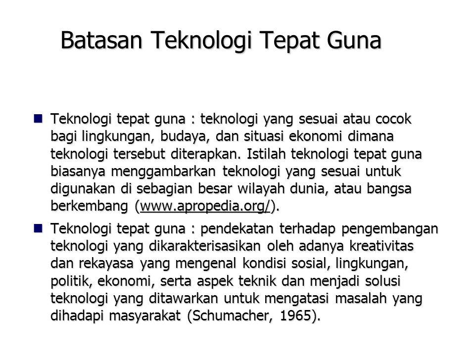 Batasan Teknologi Tepat Guna