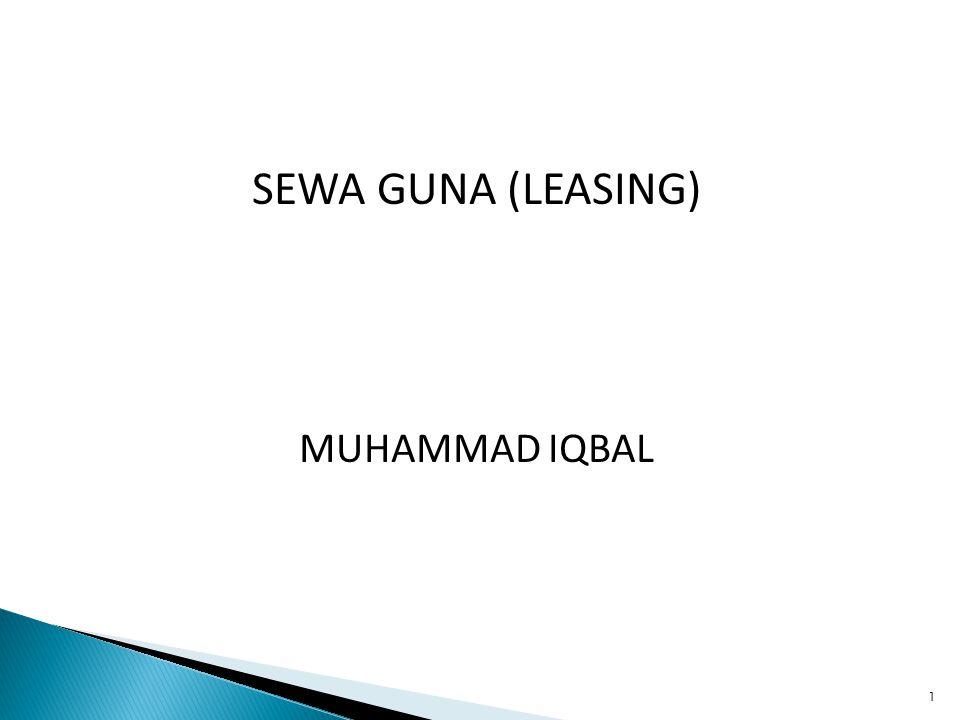 SEWA GUNA (LEASING) MUHAMMAD IQBAL