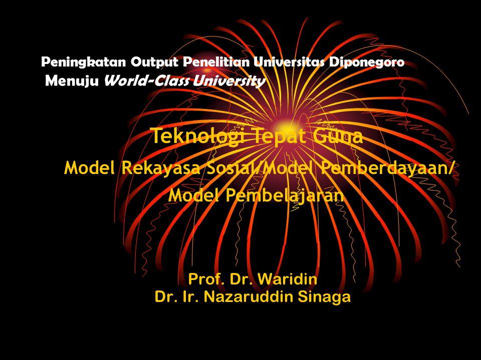 Prof. Dr. Waridin Dr. Ir. Nazaruddin Sinaga