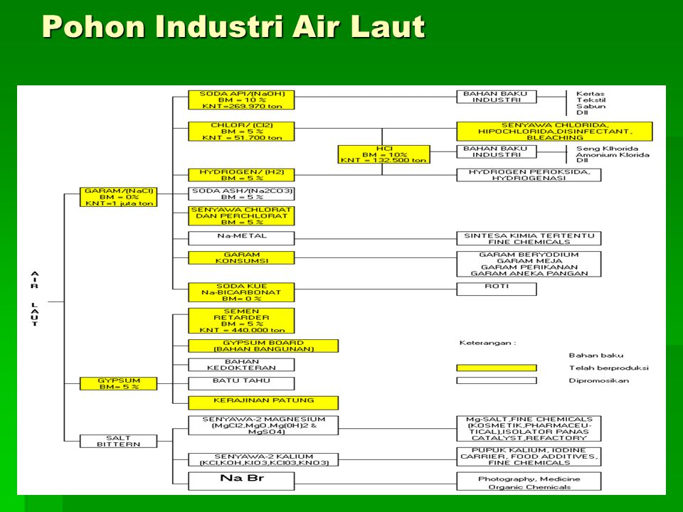 Pohon Industri Air Laut