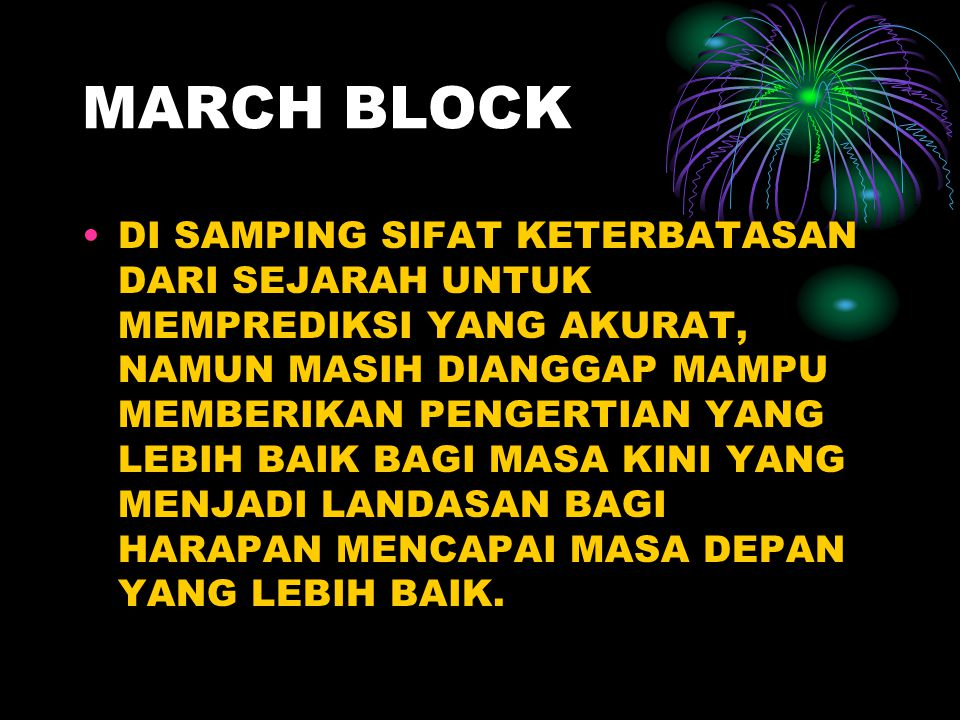 MARCH BLOCK