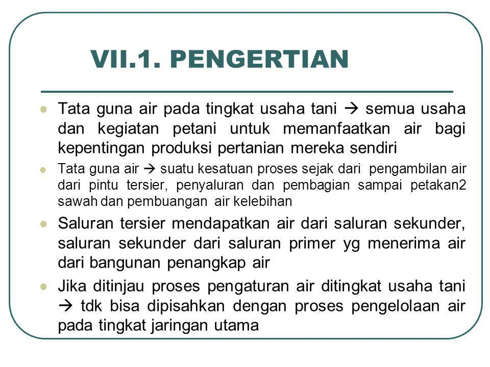 VII.1. PENGERTIAN