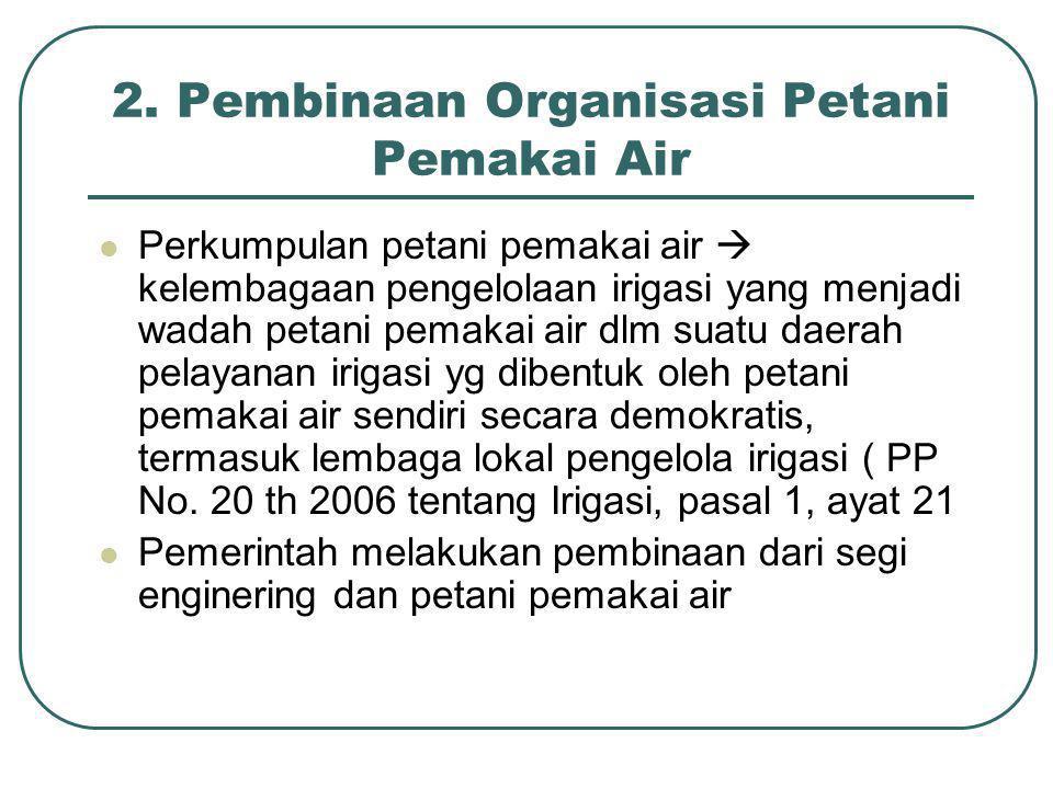 2. Pembinaan Organisasi Petani Pemakai Air