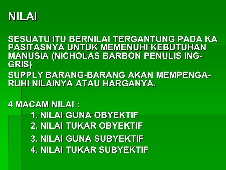 NILAI 3. NILAI GUNA SUBYEKTIF