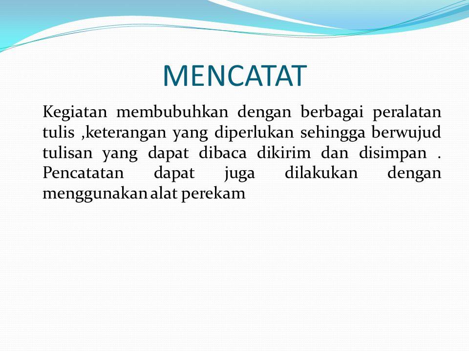 MENCATAT