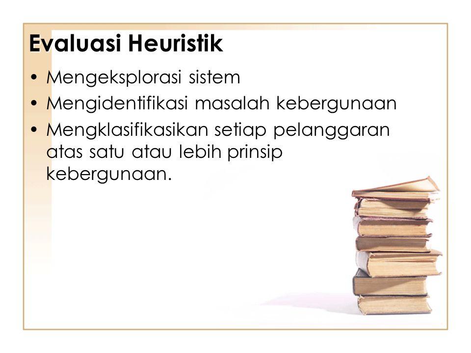 Evaluasi Heuristik Mengeksplorasi sistem