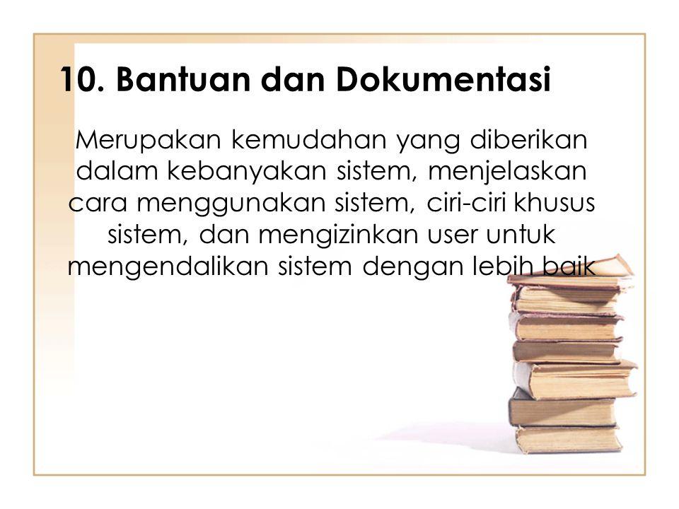 10. Bantuan dan Dokumentasi
