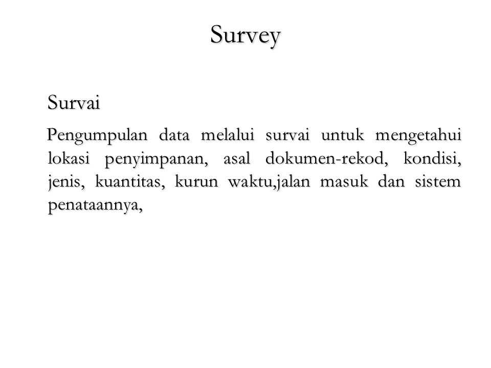 Survey Survai.