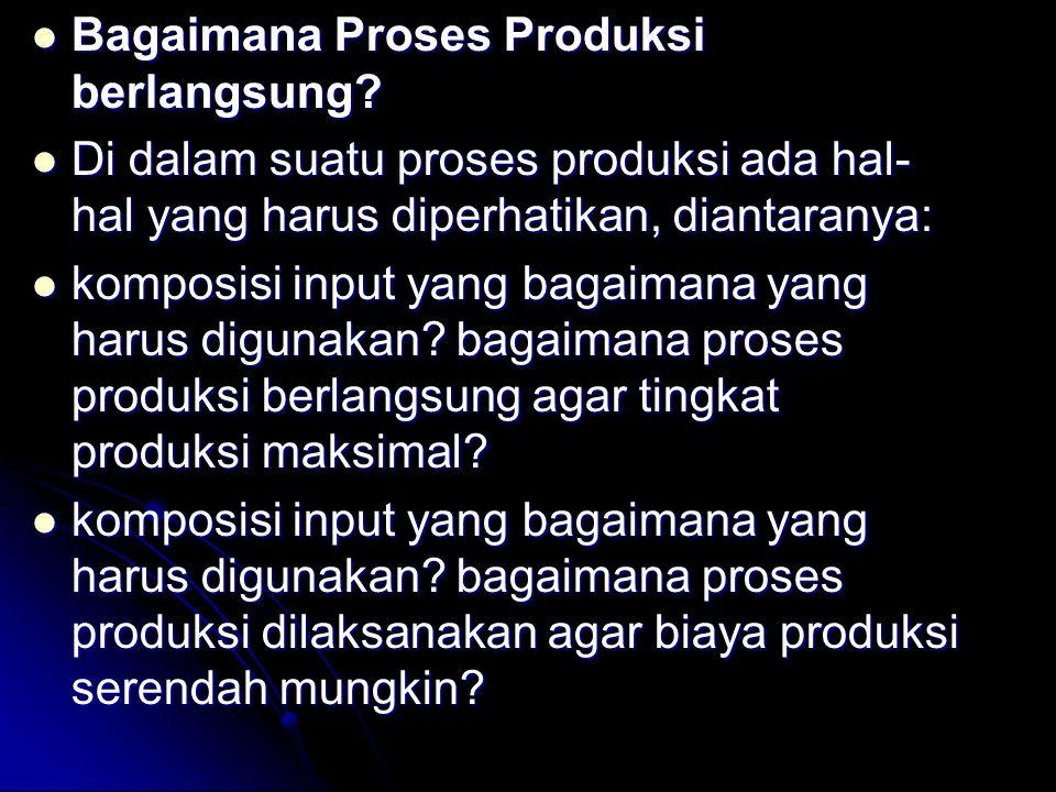 Bagaimana Proses Produksi berlangsung