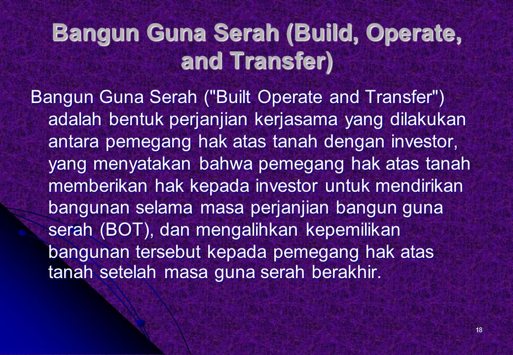 Bangun Guna Serah (Build, Operate, and Transfer)