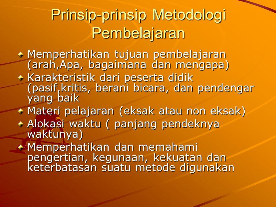 Prinsip-prinsip Metodologi Pembelajaran