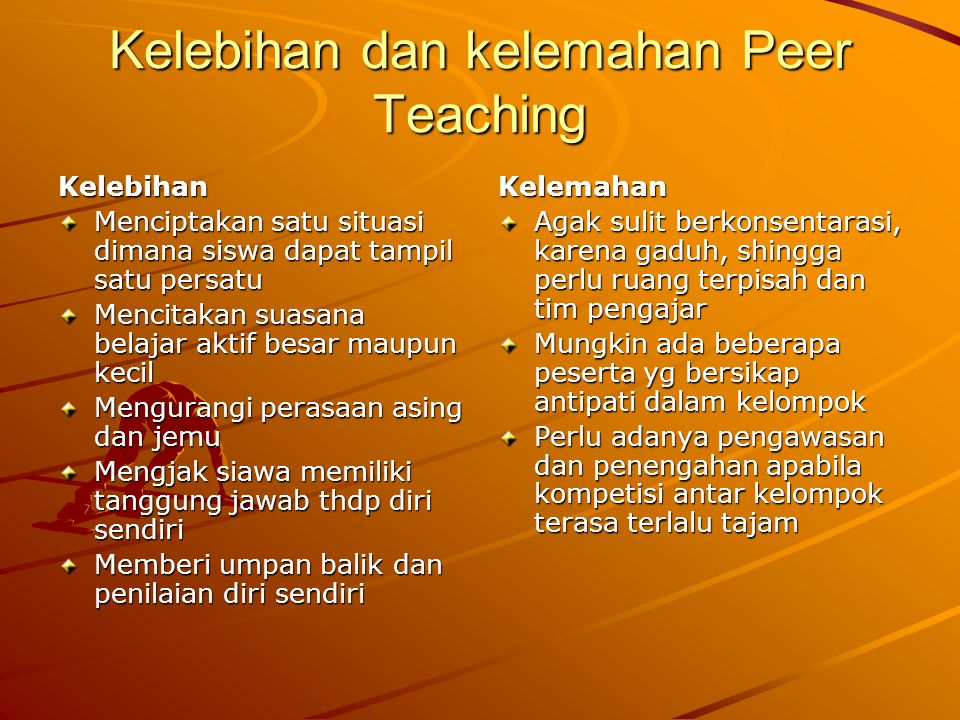 Kelebihan dan kelemahan Peer Teaching