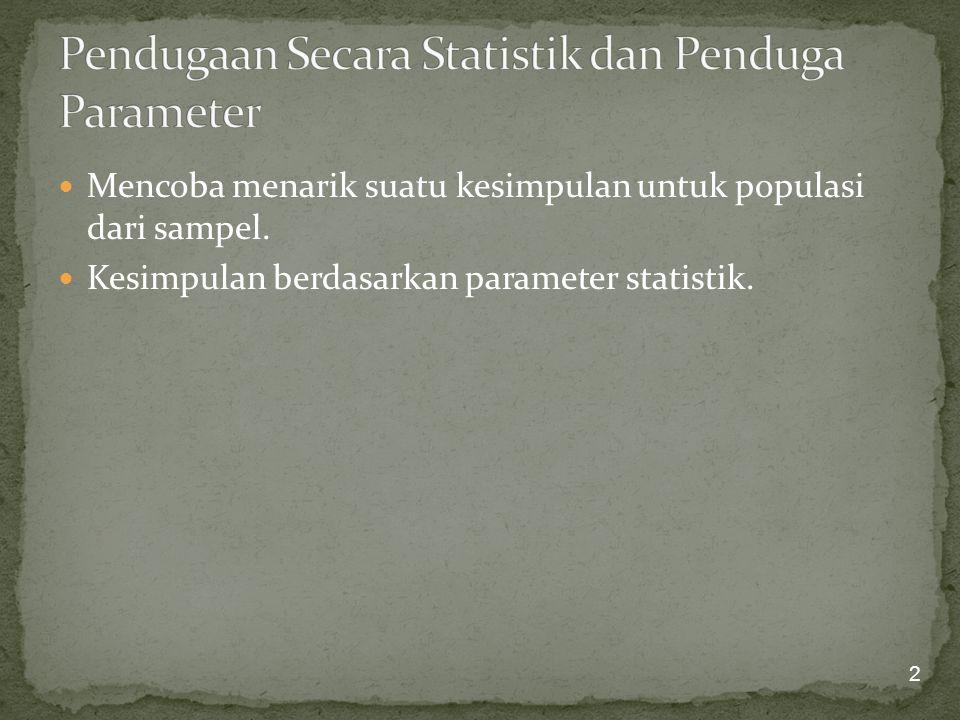 Pendugaan Secara Statistik dan Penduga Parameter