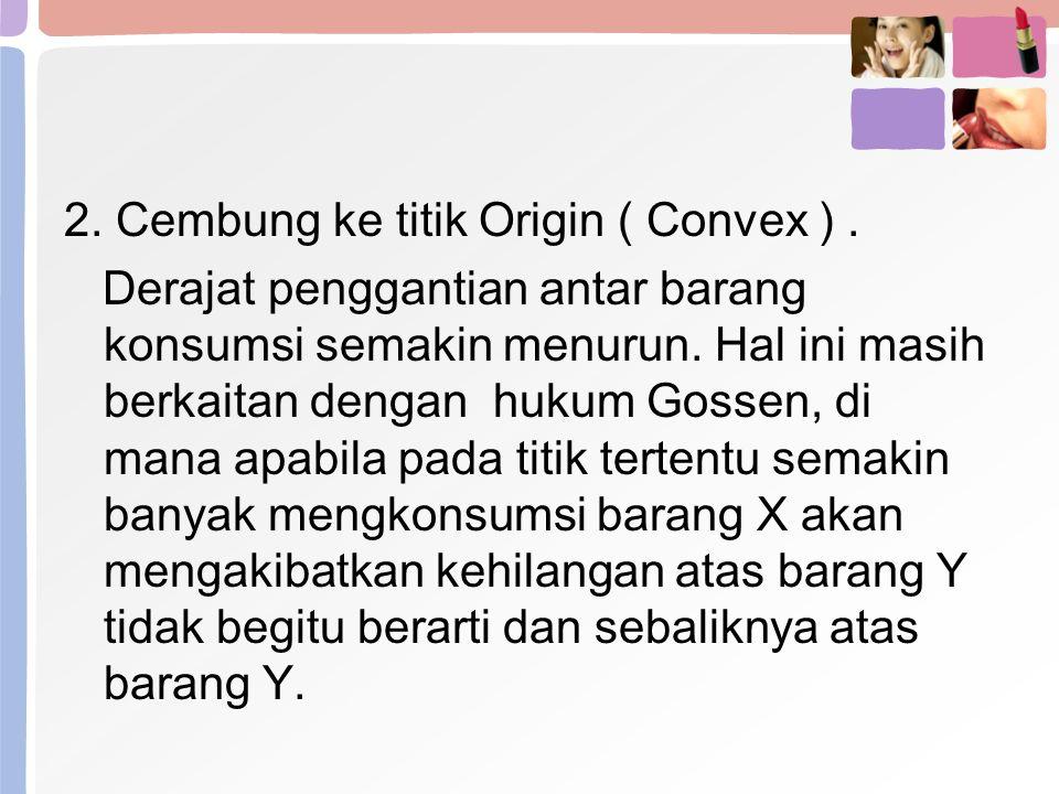 2. Cembung ke titik Origin ( Convex ) .