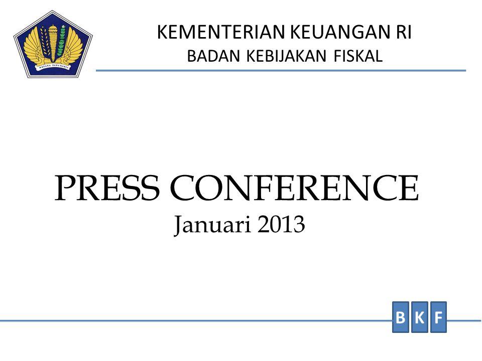 PRESS CONFERENCE Januari 2013