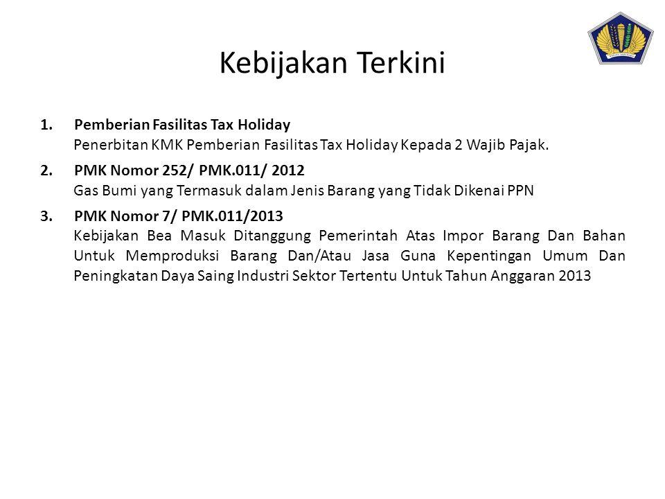 Kebijakan Terkini Pemberian Fasilitas Tax Holiday