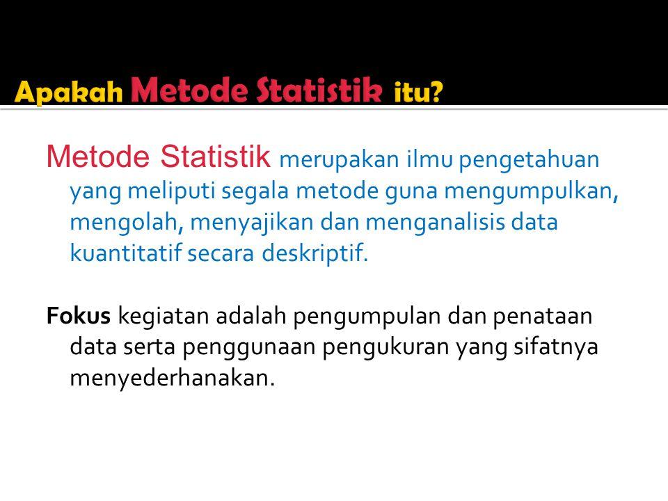 Apakah Metode Statistik itu