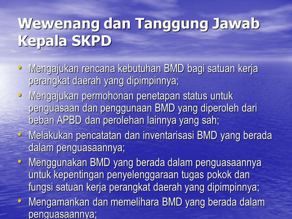 Wewenang dan Tanggung Jawab Kepala SKPD