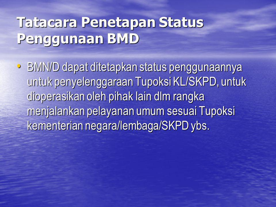 Tatacara Penetapan Status Penggunaan BMD
