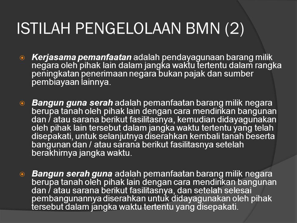ISTILAH PENGELOLAAN BMN (2)