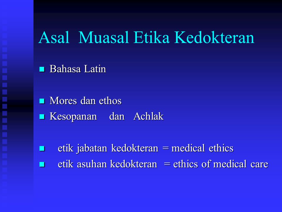 Asal Muasal Etika Kedokteran