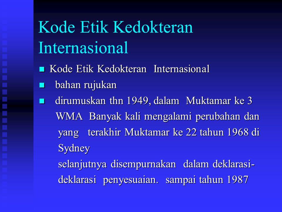 Kode Etik Kedokteran Internasional