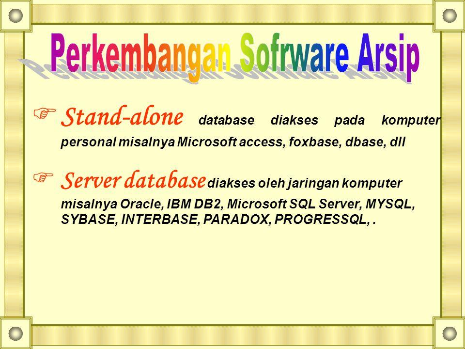 Perkembangan Sofrware Arsip