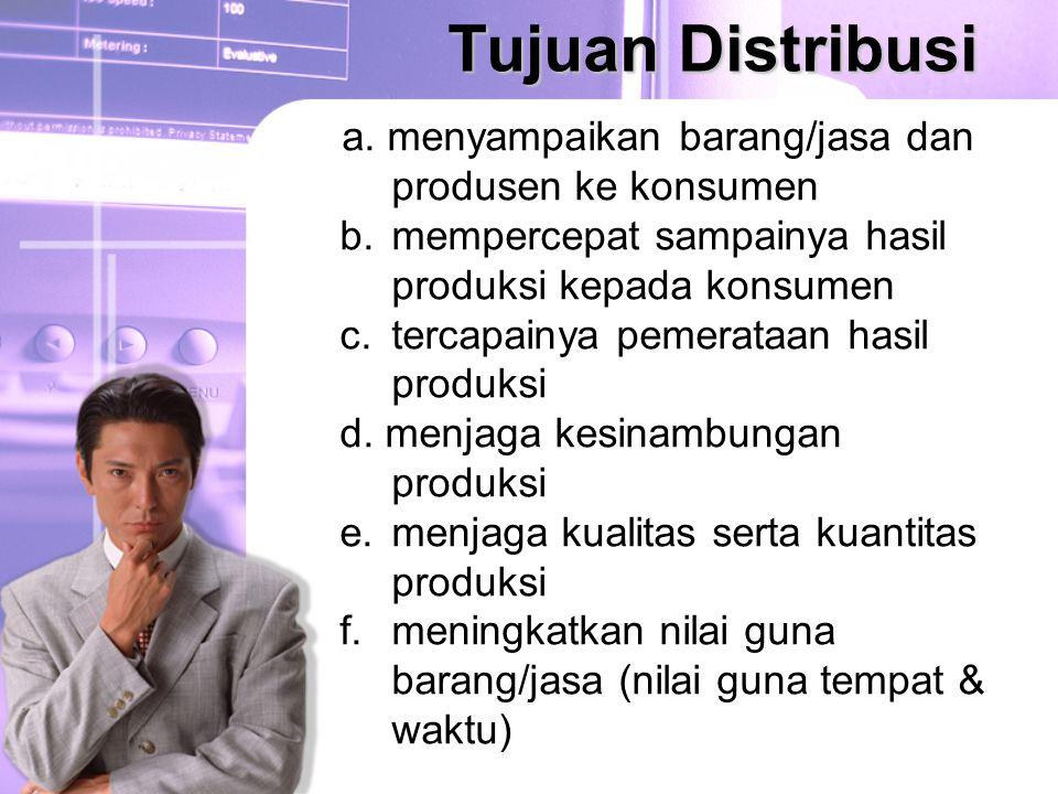 Tujuan Distribusi