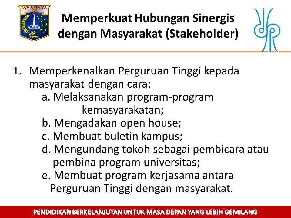 Memperkuat Hubungan Sinergis dengan Masyarakat (Stakeholder)