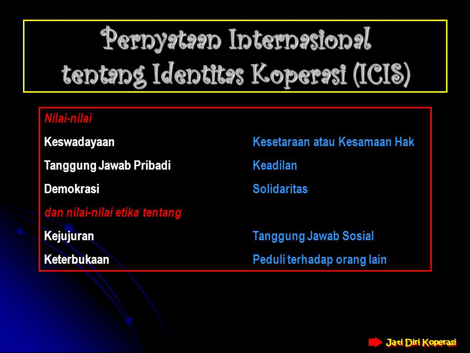 Pernyataan Internasional tentang Identitas Koperasi (ICIS)