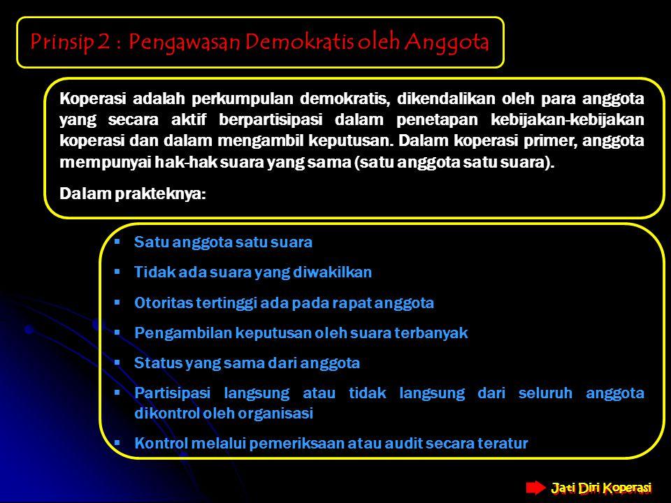 Prinsip 2 : Pengawasan Demokratis oleh Anggota