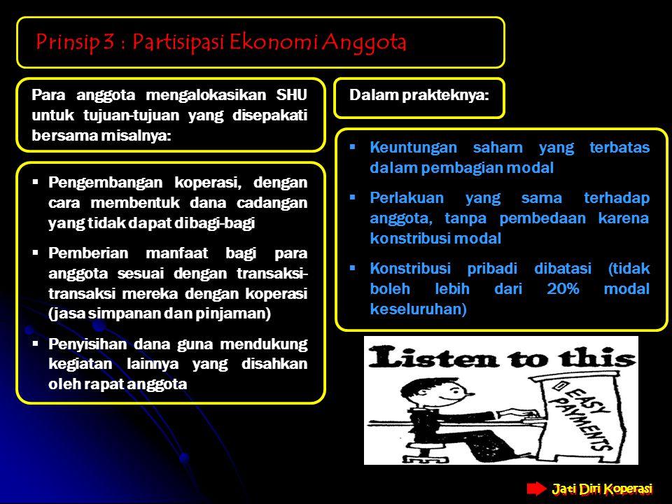 Prinsip 3 : Partisipasi Ekonomi Anggota