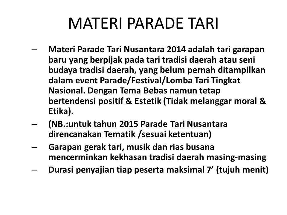 MATERI PARADE TARI