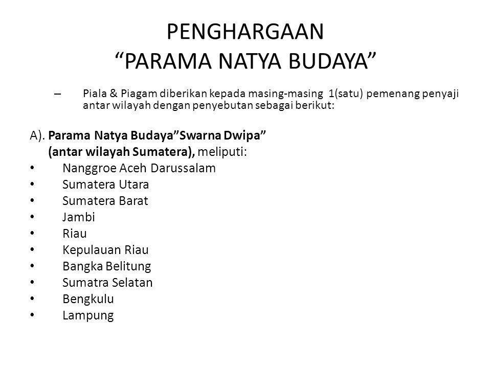 PENGHARGAAN PARAMA NATYA BUDAYA