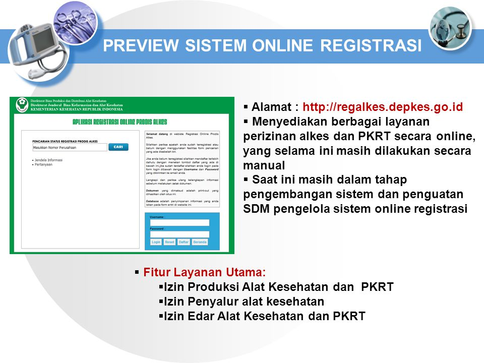 PREVIEW SISTEM ONLINE REGISTRASI