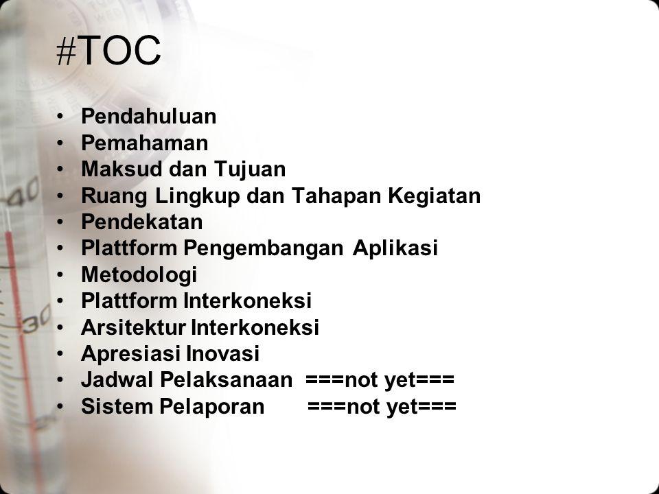 #TOC Pendahuluan Pemahaman Maksud dan Tujuan