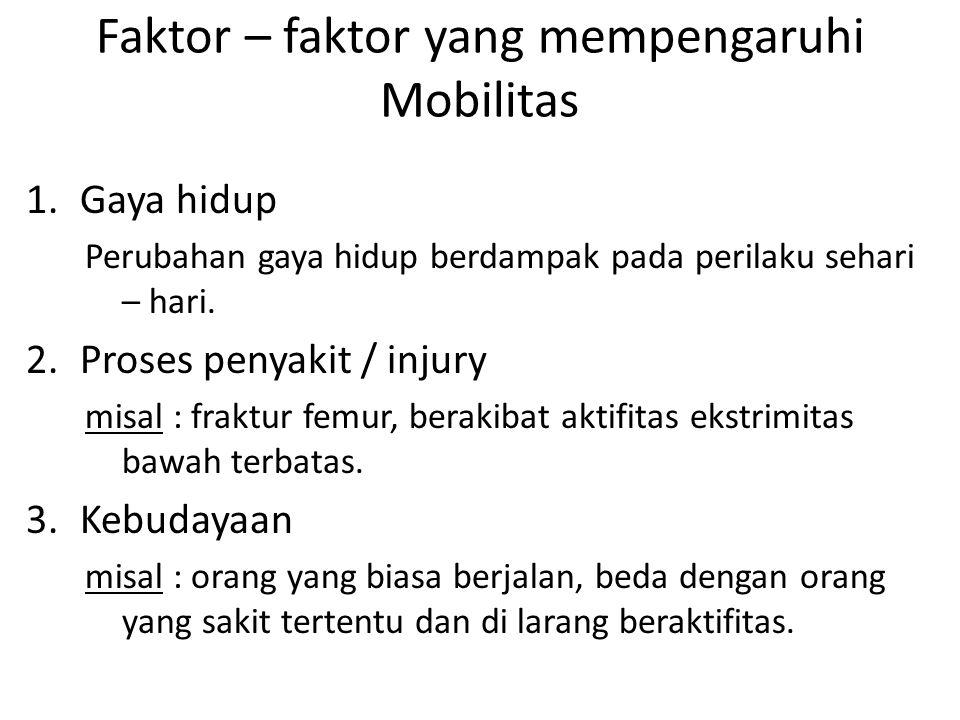 Faktor – faktor yang mempengaruhi Mobilitas
