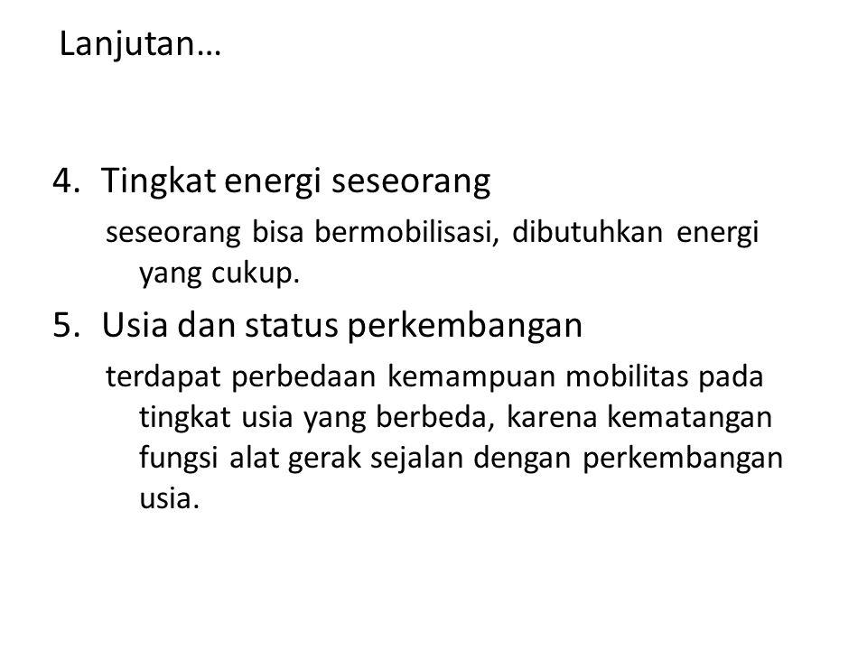 Tingkat energi seseorang
