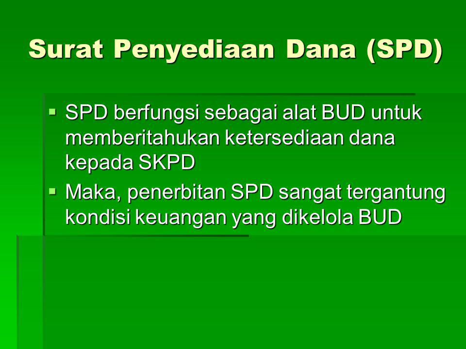 Surat Penyediaan Dana (SPD)