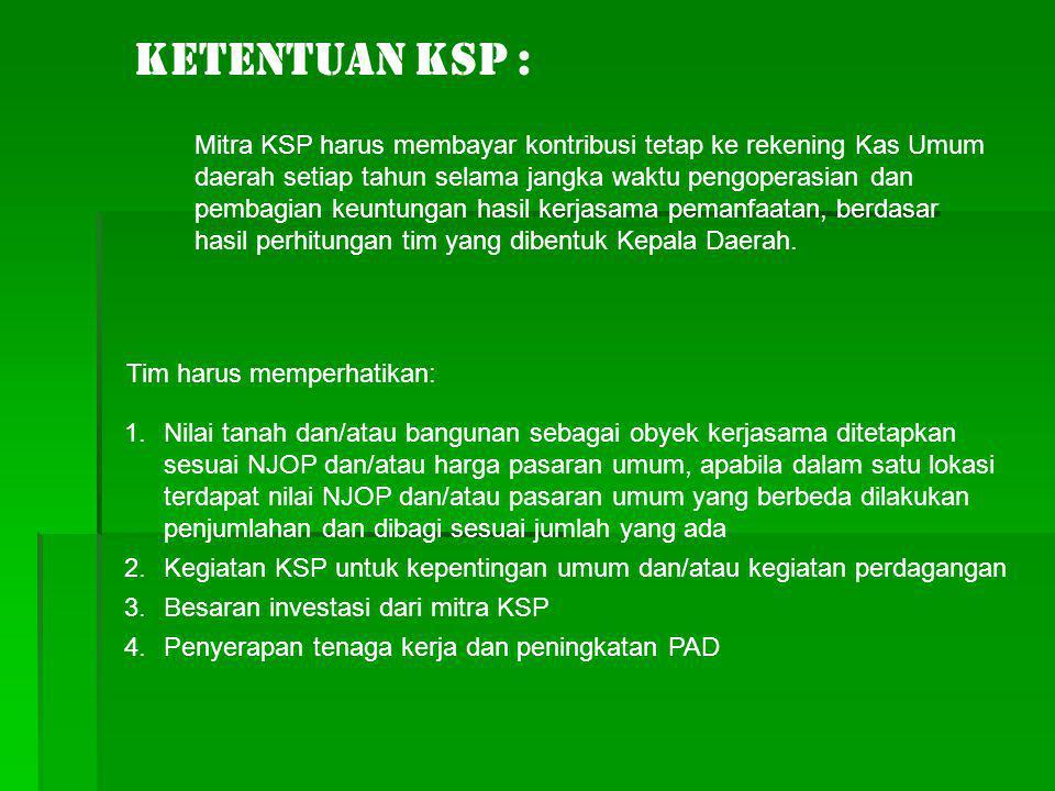 Ketentuan KSP :
