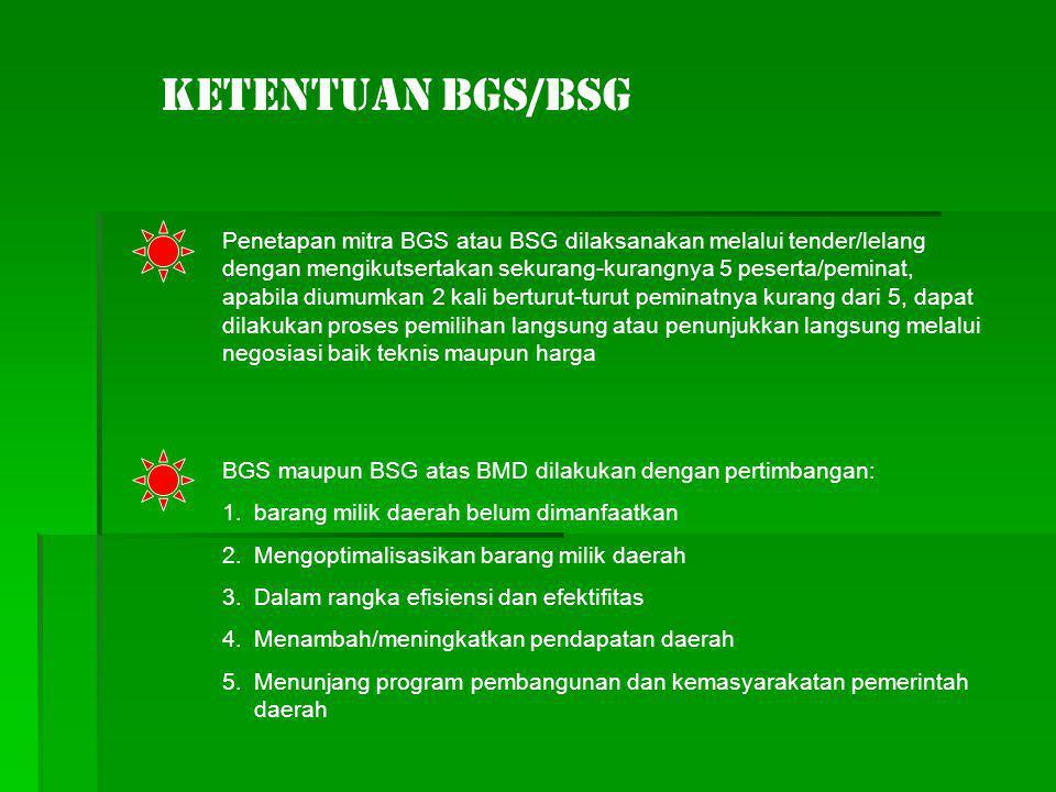 Ketentuan BGS/BSG