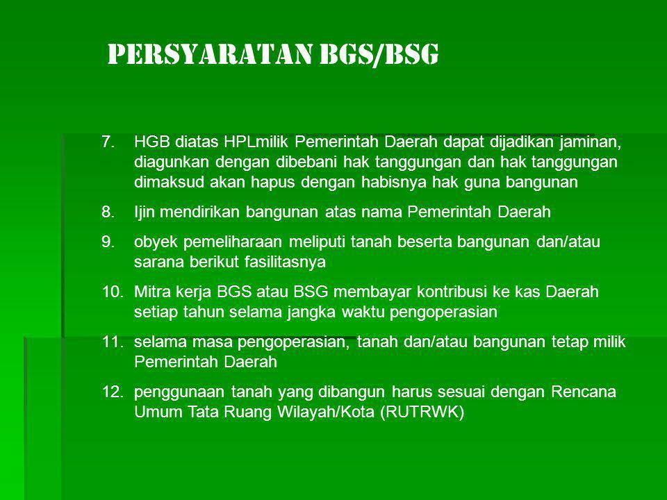 PERSYARATAN BGS/BSG