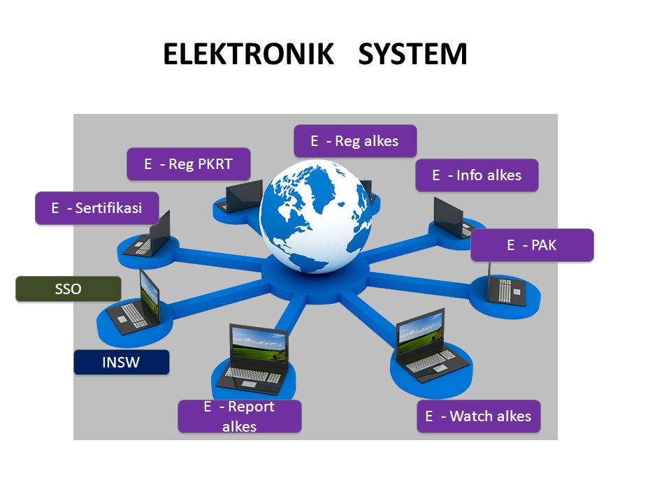 ELEKTRONIK SYSTEM E - Reg alkes E - Reg PKRT E - Info alkes