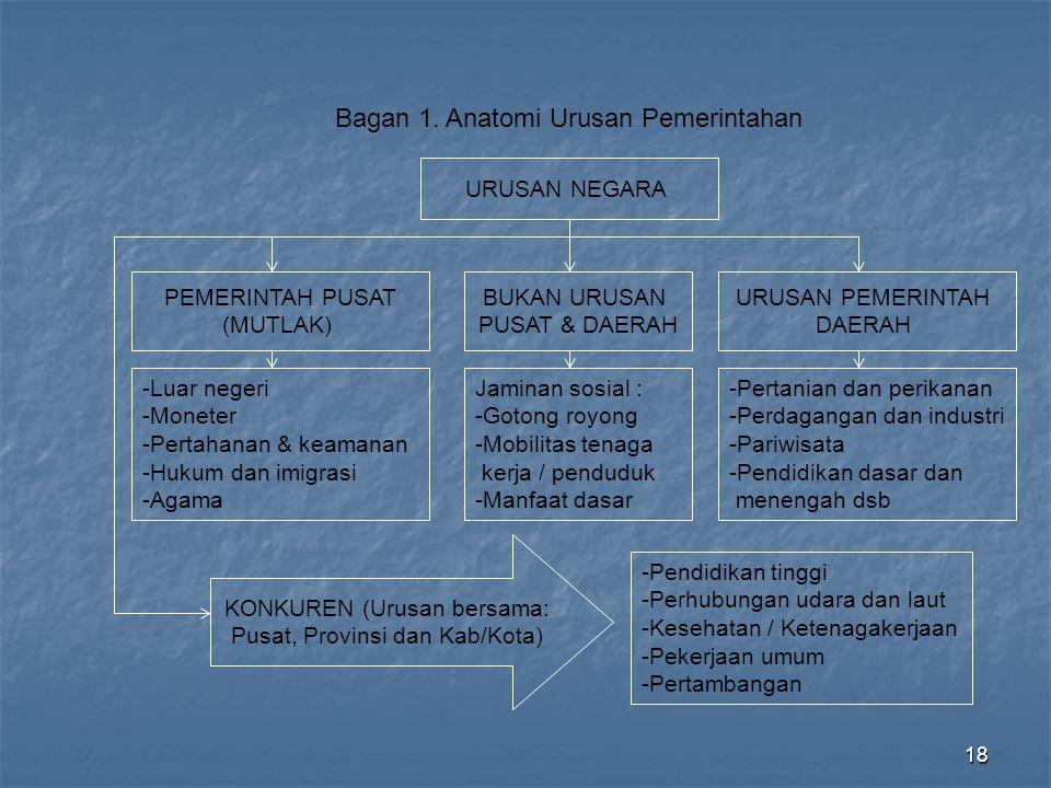 Bagan 1. Anatomi Urusan Pemerintahan