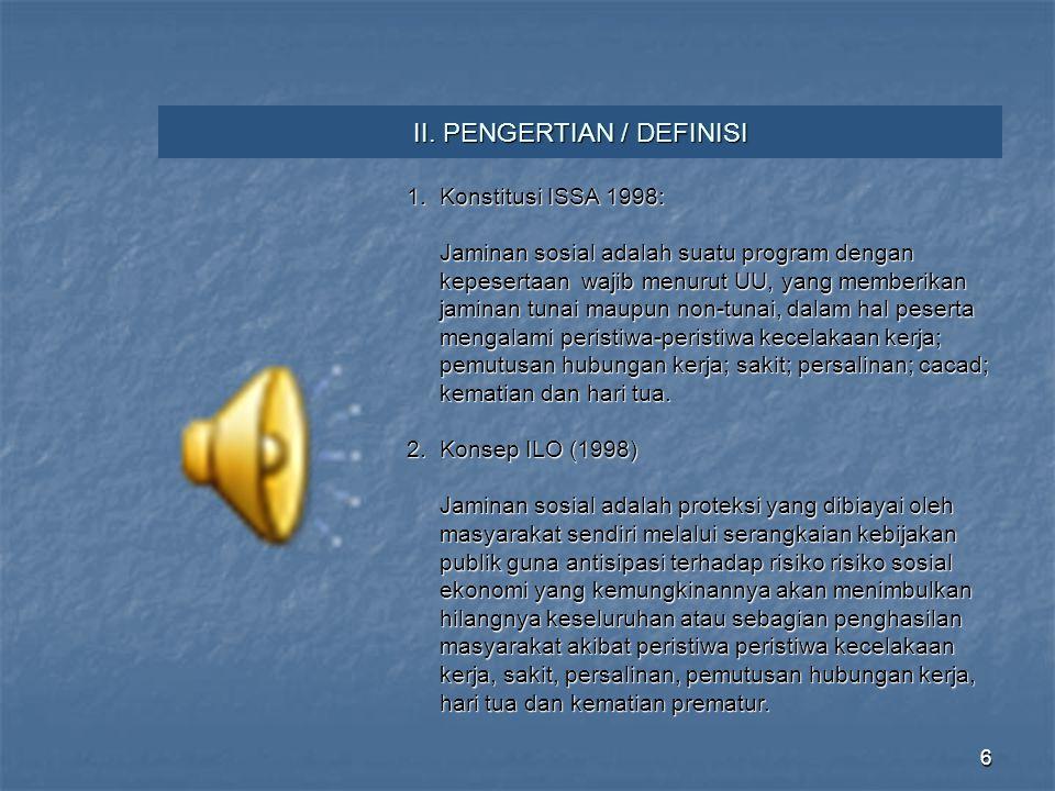 II. PENGERTIAN / DEFINISI
