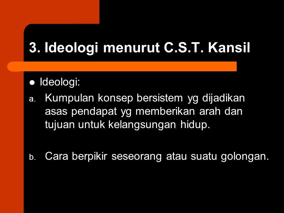 3. Ideologi menurut C.S.T. Kansil