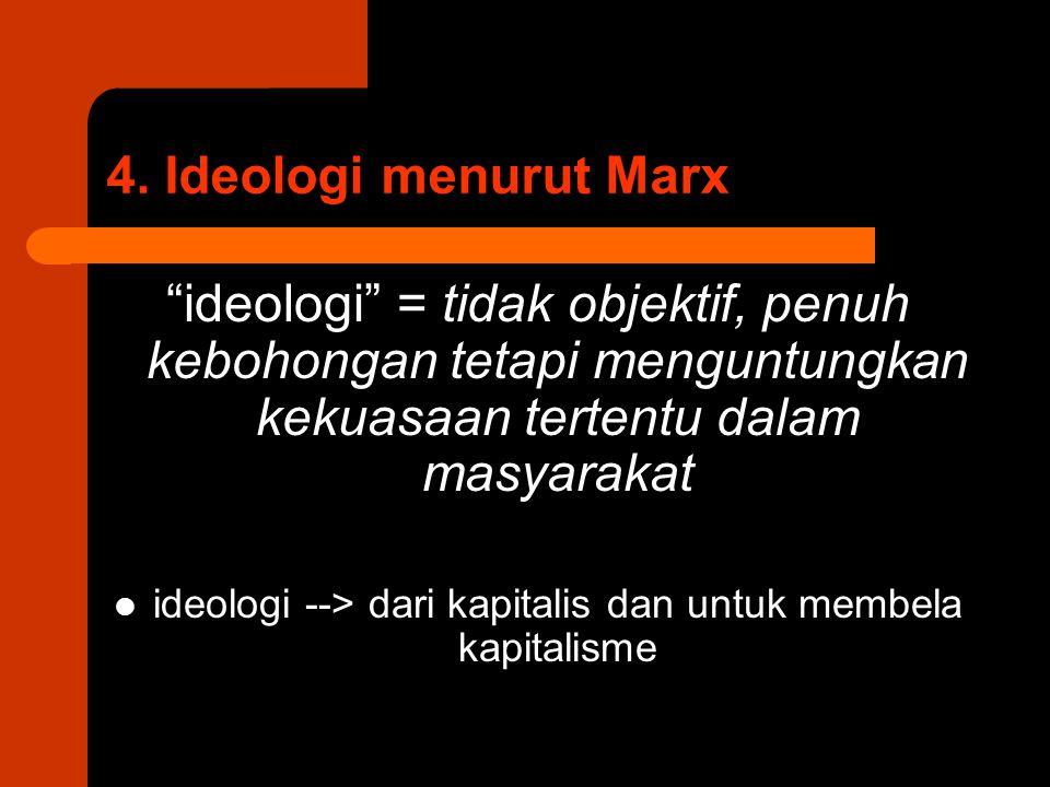 ideologi --> dari kapitalis dan untuk membela kapitalisme