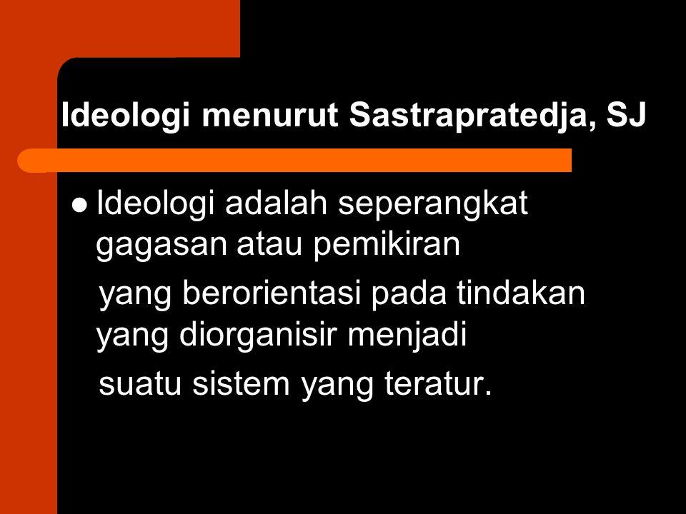 Ideologi menurut Sastrapratedja, SJ