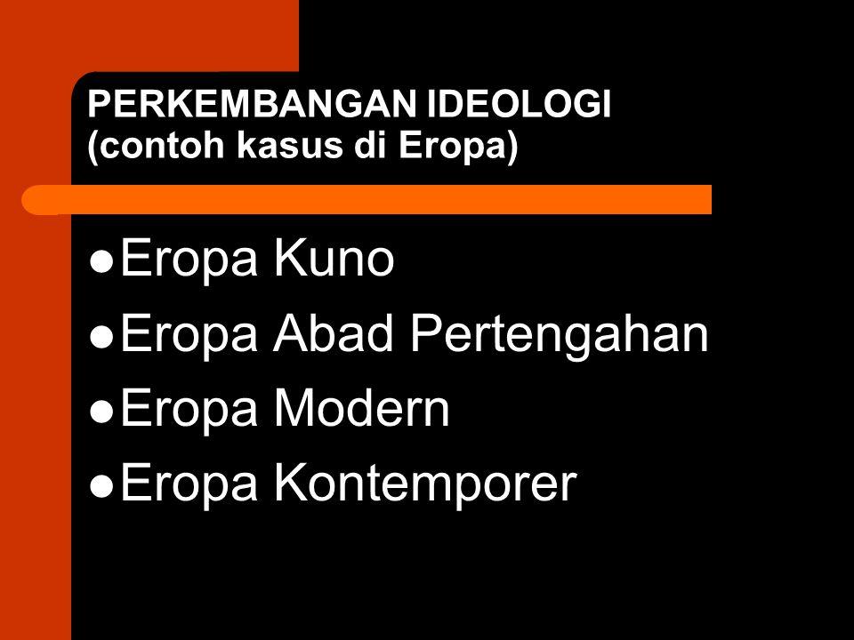 PERKEMBANGAN IDEOLOGI (contoh kasus di Eropa)