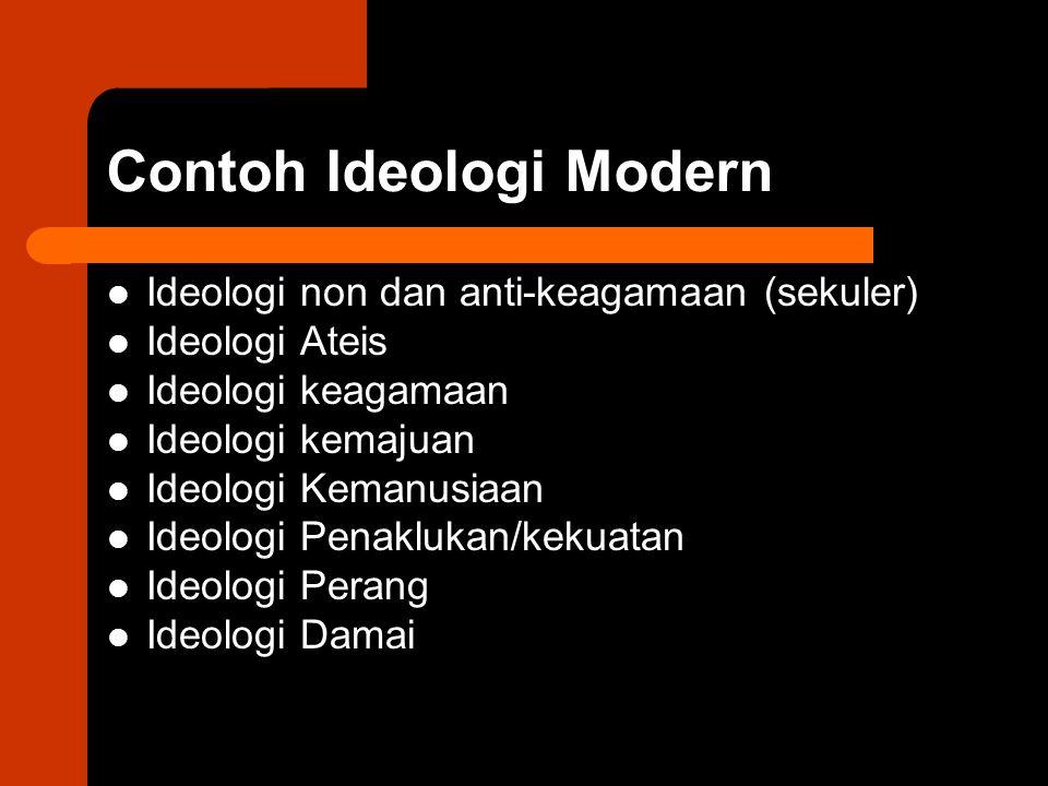 Contoh Ideologi Modern